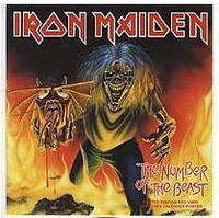 IRON MAIDEN the number of the beast (7) red vinyl + poster lim - uk