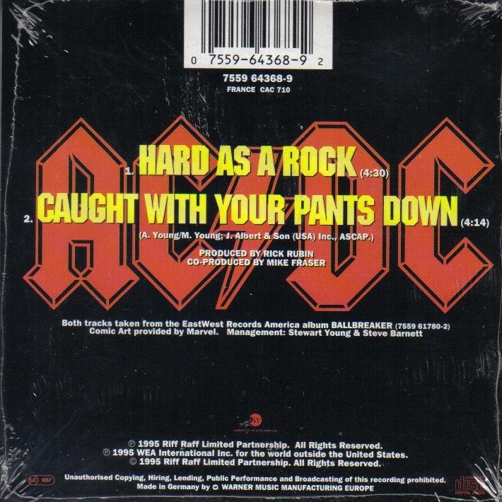 Ac Dc Hard As A Rock Cd Single For Sale On Cdandlp Com