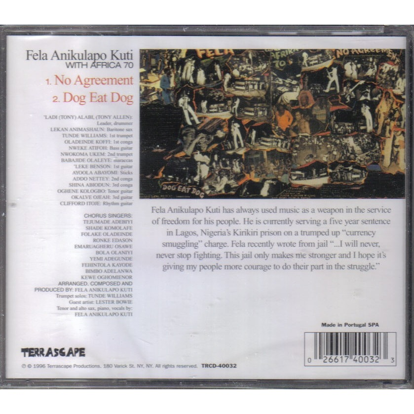 No Agreement By Fela Anikulapo Kuti With Africa 70 Cd With Ald93