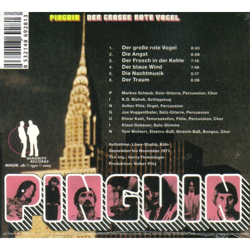 Der Grosse Rote Vogel By Pinguin Cd With Ald93