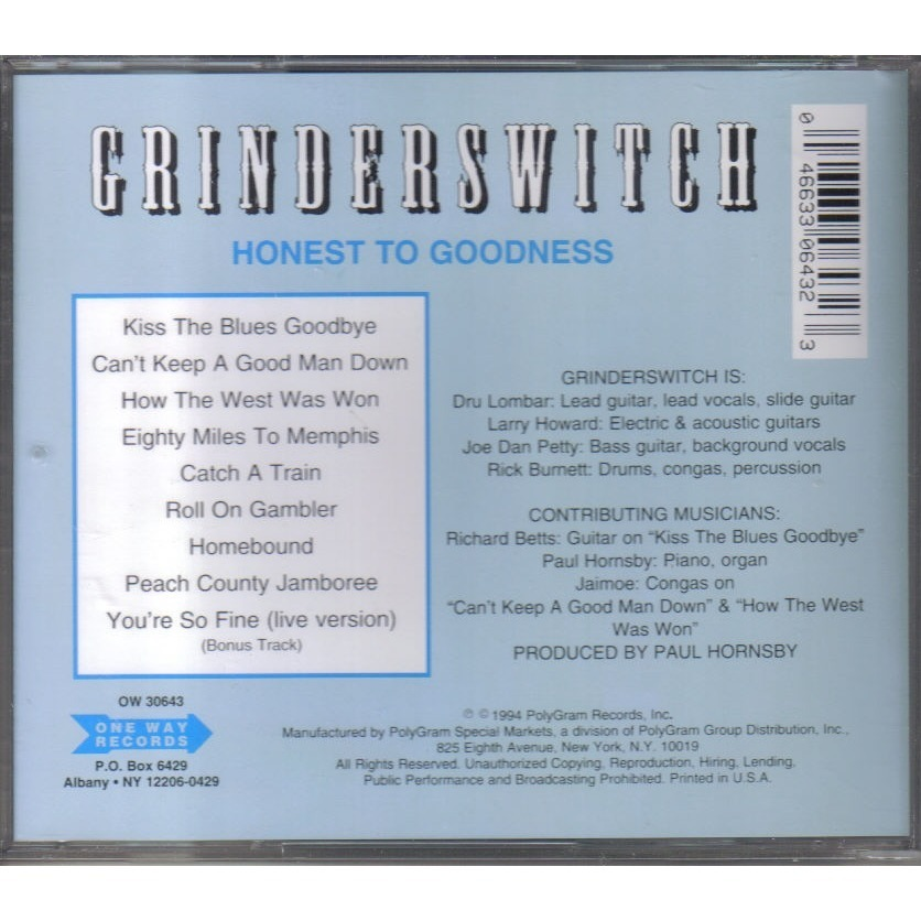 grinderswitch honest to goodness