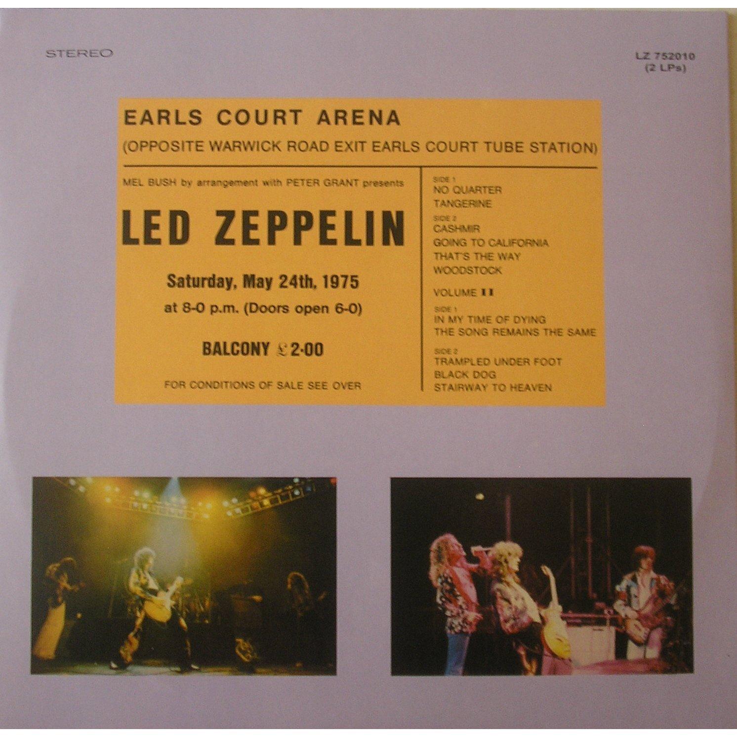 Earl S Court Vinyl Couleur By Led Zeppelin Lp X 2 With