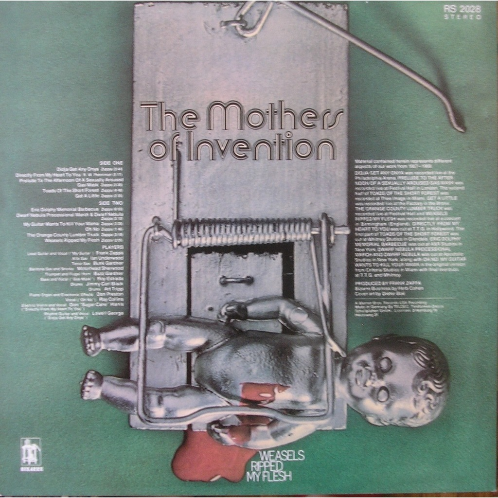 Weasels Ripped My Flesh By Mothers Of Invention Lp With