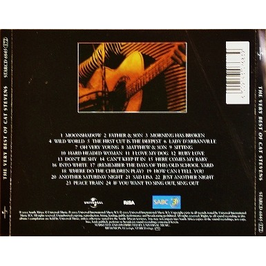 The Very Best Of Cat Stevens By Cat Stevens Cd With