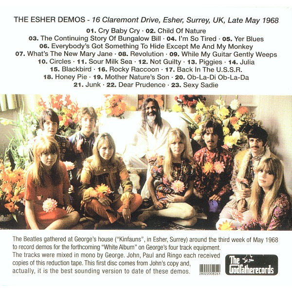 The Esher Demos By The Beatles Cd With Avefenixrecords