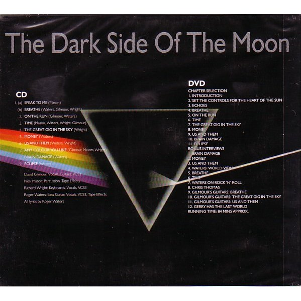 The Dark Side Of The Moon Cd Dvd By Pink Floyd Cd X 2