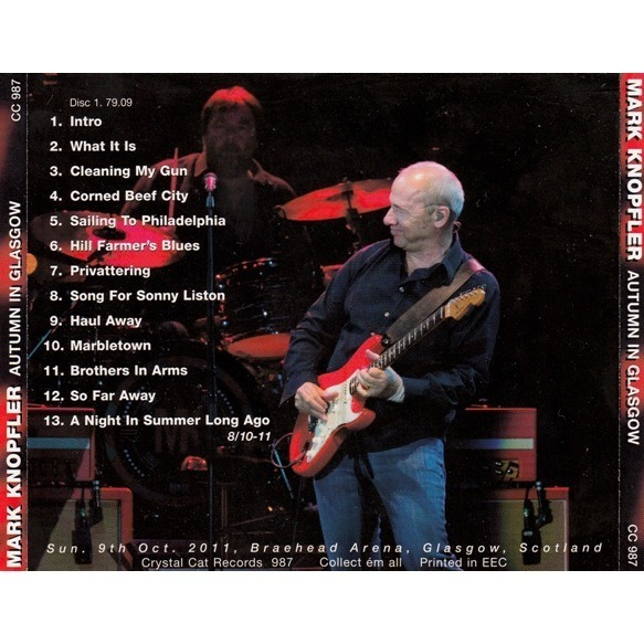 Autumn In Glasgow By Mark Knopfler Dire Straits Cd With