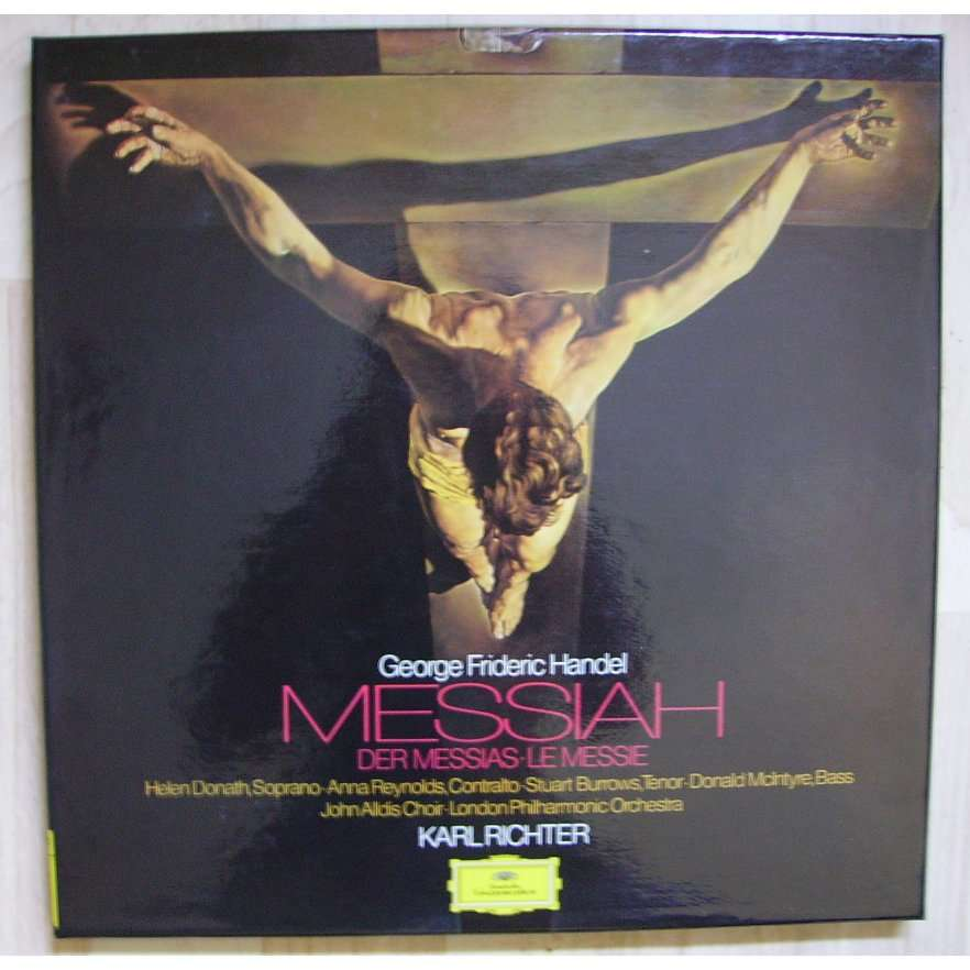 messiah der messias le messie by karl richter handel lp x 3 with blakcat ref 114895262. Black Bedroom Furniture Sets. Home Design Ideas