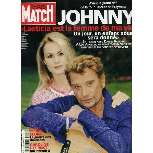 paris match n 2663 8 juin 2000 de johnny hallyday magazine chez capricordes ref 114264307. Black Bedroom Furniture Sets. Home Design Ideas