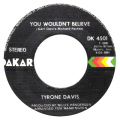 TYRONE DAVIS - you wouldn't believe