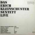 ERICH KLEINSCHUSTER SEXTETT - live
