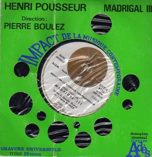 PIERRE BOULEZ - madrigal iii