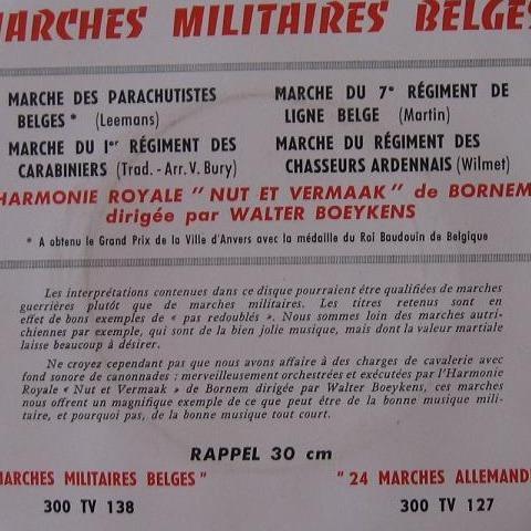 MARCHES MILITAIRES BELGES Marche des parachutistes belges