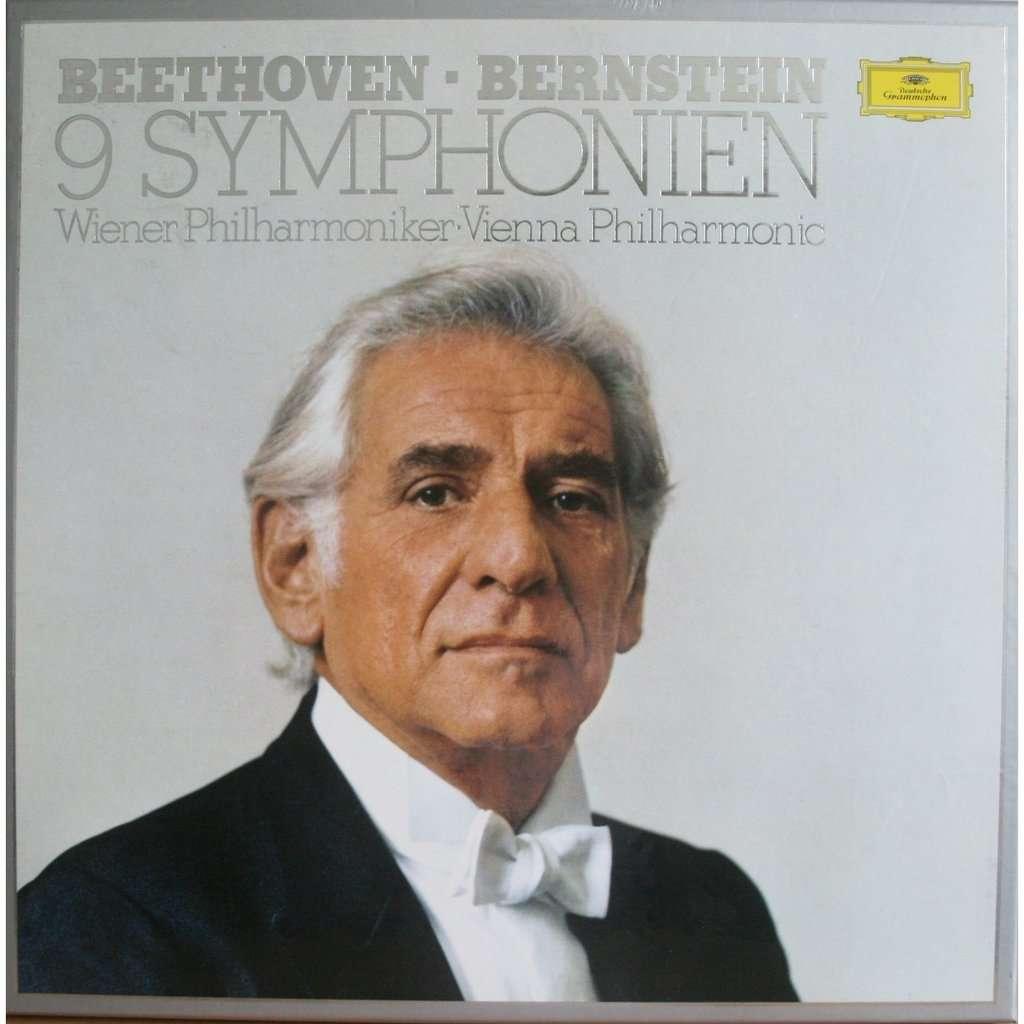 Beethoven 9 Symphonies Vienna By Leonard Bernstein Lp X 8