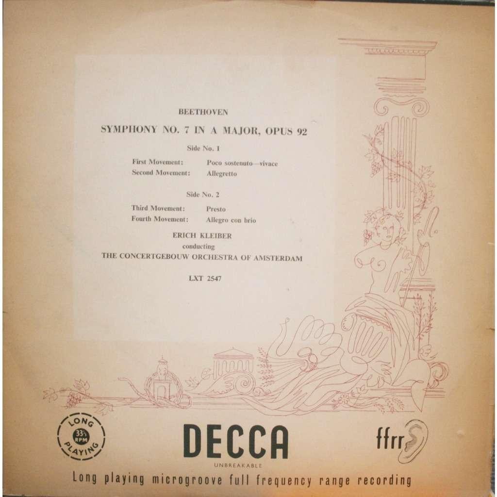 erich kleiber Beethoven Symphony No 7
