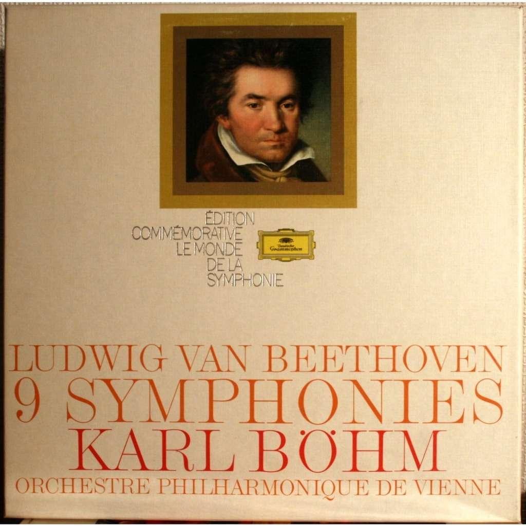 9 Symphonies Beethoven By Karl Bohm Lp X 9 With