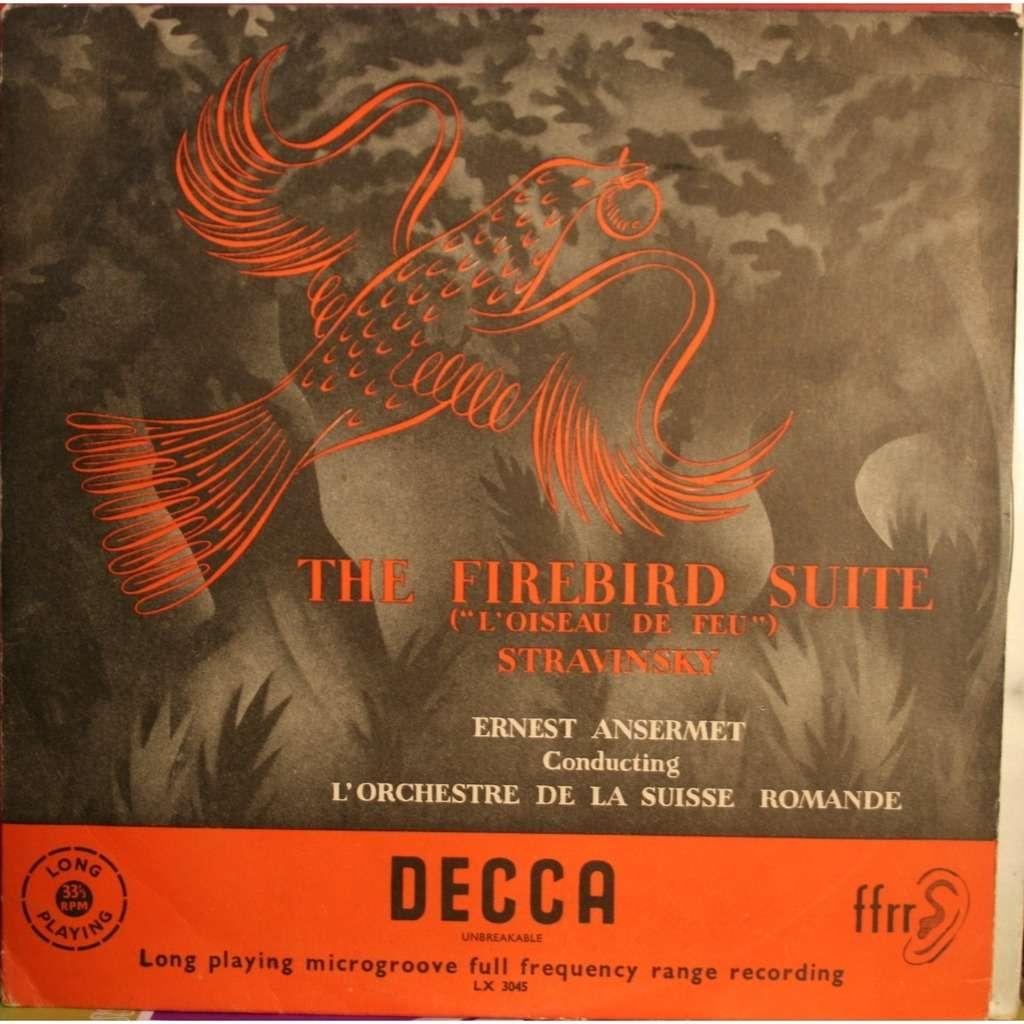 Stravinsky The Firebird Suite By Ernest Ansermet 10inch