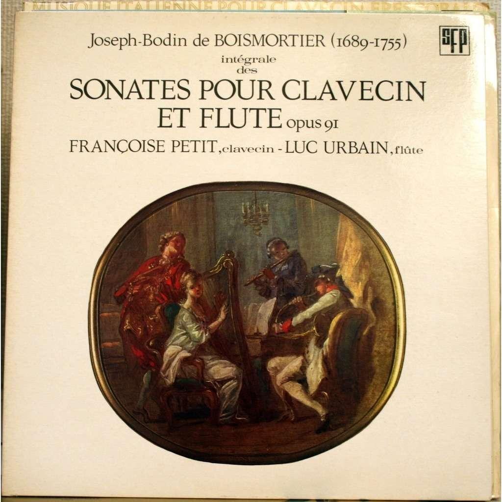 Luc URBAIN / Françoise PETIT 6 Sonates pour clavecin et flûte, Op.91