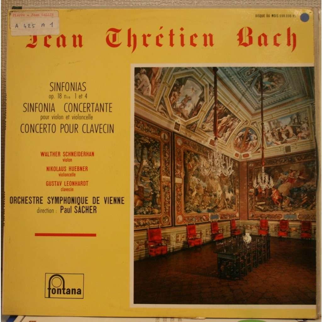 SCHEIDERHAN / HUEBNER / LEONHARDT BACH Sinfonia Concertante