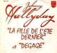 HALLYDAY JOHNNY LA FILLE DE L ETE DERNIER ( jukeboxe)