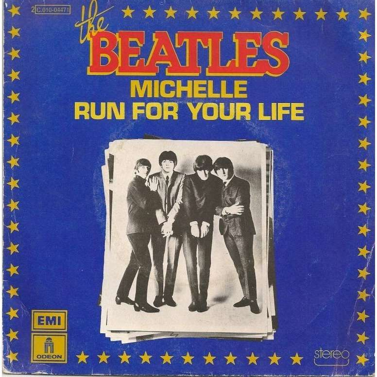 BEATLES michelle / run for your life (oldies)
