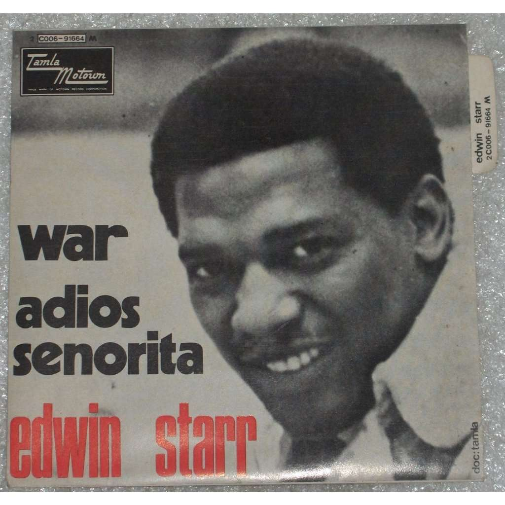 war by edwin starr Edwin starr is perhaps best remembered for his 1970 number one best-selling motown subsidiary hit, war his passionate delivery of the norman whitfield composition.