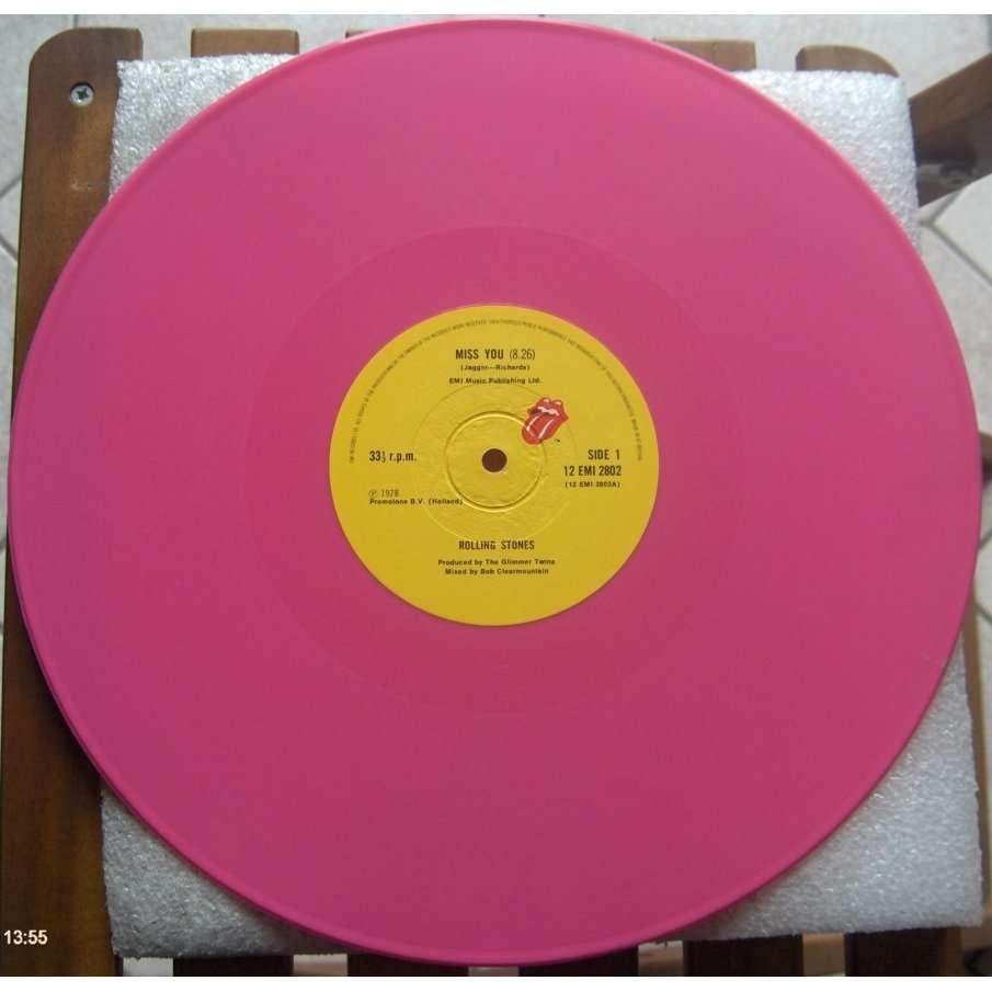 Miss You Vinyl Rose De Rolling Stones 33t Chez Damino