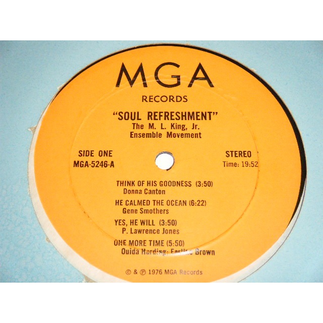 m. l. king, jr ensemble movement soul refreshment