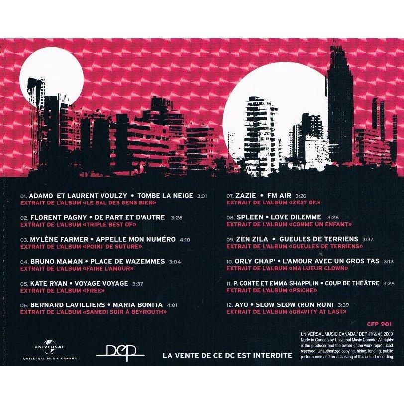 mylène farmer appelle mon numero - CD promo compilation repertoire francophone universal 2009 - edition 4 - canada