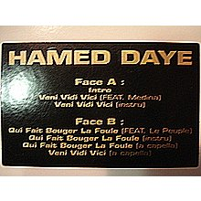 HAmed daye Veni vidi vici ft medina (voc, instru, a cap) / Qui fait bouger la France ft le peuple (voc, instru,