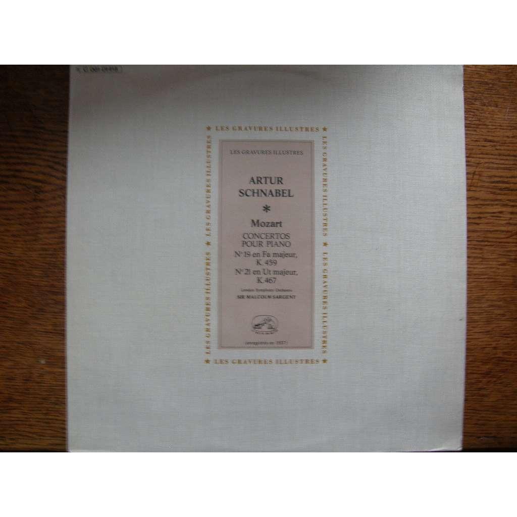 ARTUR SCHNABEL - LONDON SYMPHONY ORCHESTRA MOZART - CONCERTOS POUR PIANO N° 19 FA MAJEUR & N°21 EN UT MAJEUR