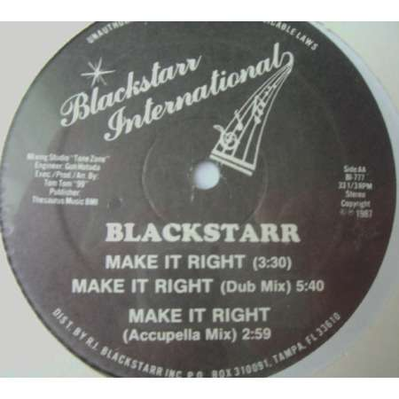 BLACKSTARR make it right / animal attraction