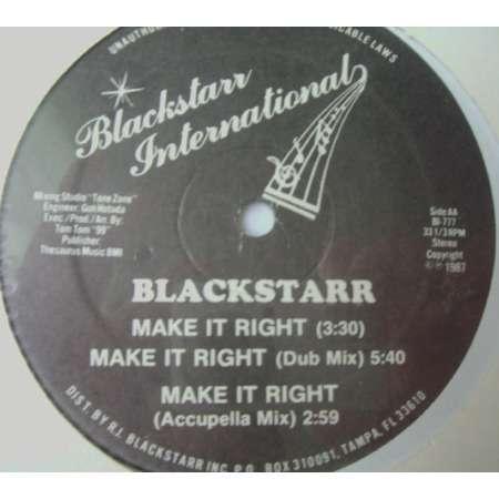 BLACKSTARR make it right / animal attraction