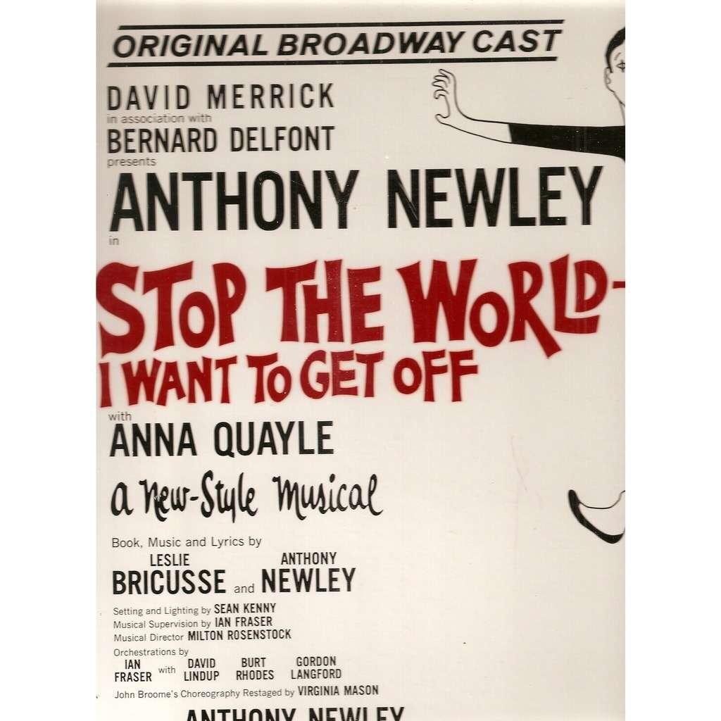 ORIGINAL CAST Stop The World I Want To Get Off, LP For