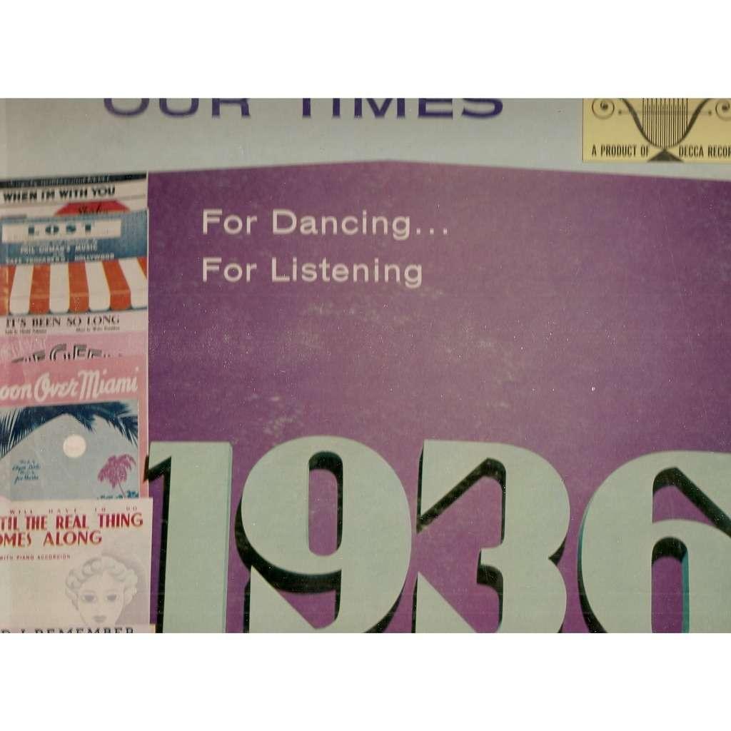 MARLENE FINGERLE AND ARTHUR SCHUTT SONGS OF OUR TIMES 1936