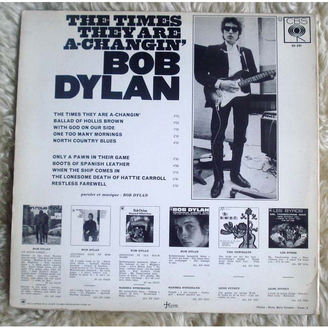 Bob Dylan Mister Bob Dylan - The times they are a changin'