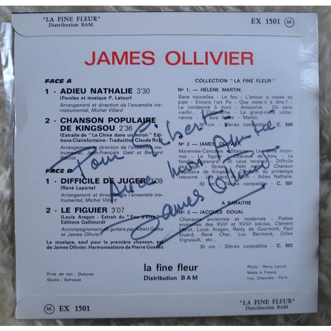 James Ollivier - Adieu Nathalie