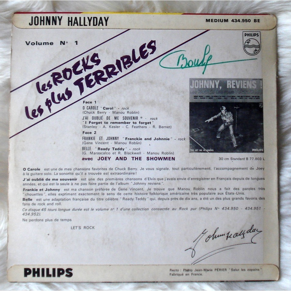 HALLYDAY JOHNNY LES ROCKS LES PLUS TERRIBLES VOL. 1