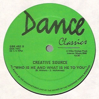 Tracy WEBER // CREATIVE SOURCE sure shot , remix // who is he and what is he to you - 1983-1973
