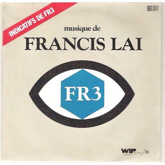 FRANCIS LAI - indicatifs de FR3 - 3 tracks - (les etoiles du cinema - bonjour a la trois - l'age tendre) - 7inch x 1