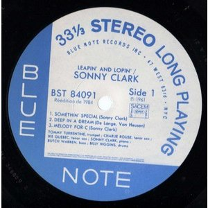SONNY CLARK LEAPIN' AND LOPIN'  ..  PROMO
