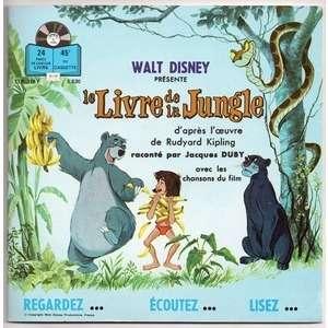 JACQUES DUBY LE LIVRE DE LA JUNGLE + CHANSONS . LE MINI MINIMUM - JE VOUDRAIS ETRE COMME TOI .. LIVRE DISQUE