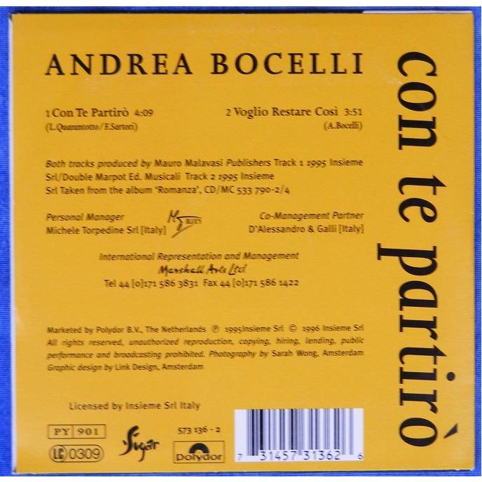 Con Te Partiro Voglio Restare Cosi By Andrea Bocelli