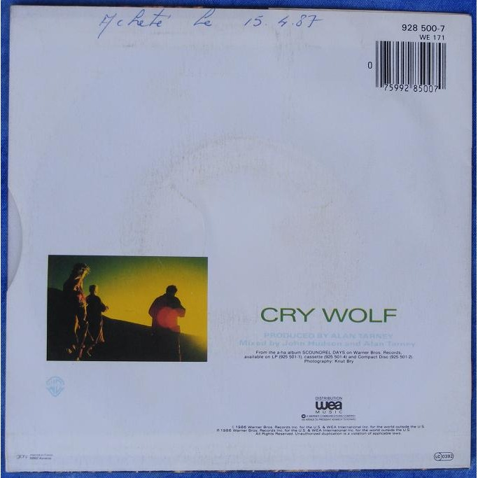 a-ha cry wolf / maybe maybe