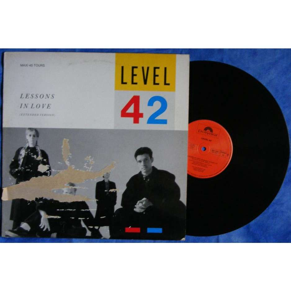 level 42 - lessons in love ( ext version)/ world machine / hot water (live) - 12 inch 45 rpm