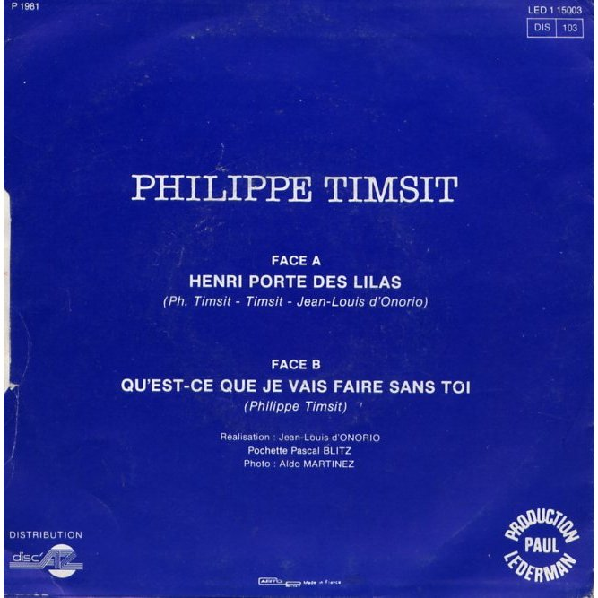 henri porte des lilas de timsit philippe sp chez grigo ref 114850005