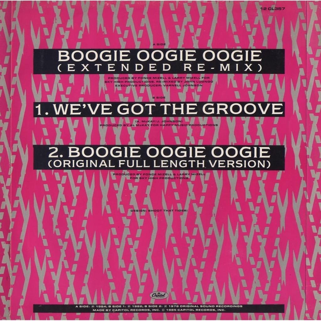 a taste of honey boogie oogie oogie (extended re-mix) / we've got the groove - boogie oogie oogie (original)