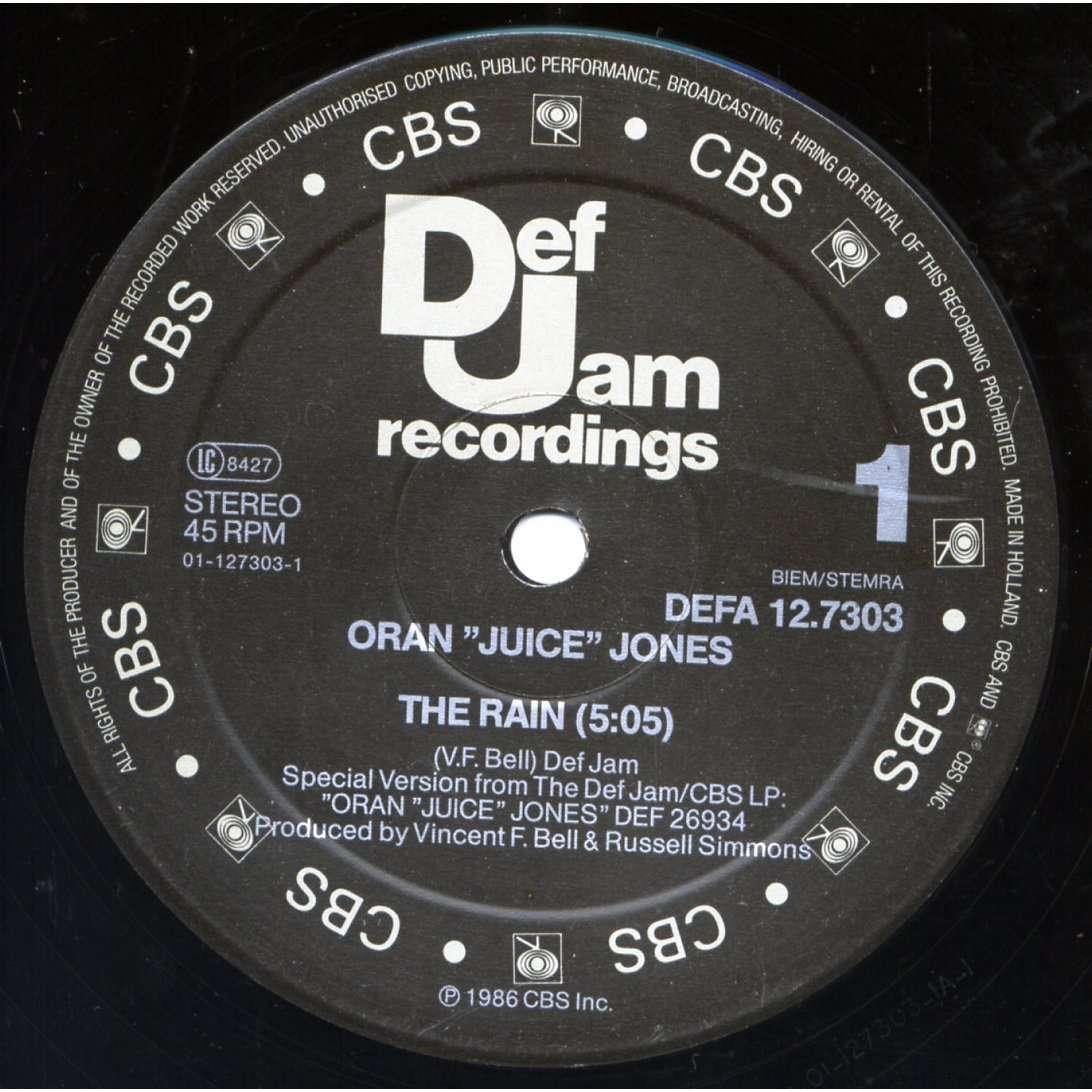 jones, oran juice the rain / your song