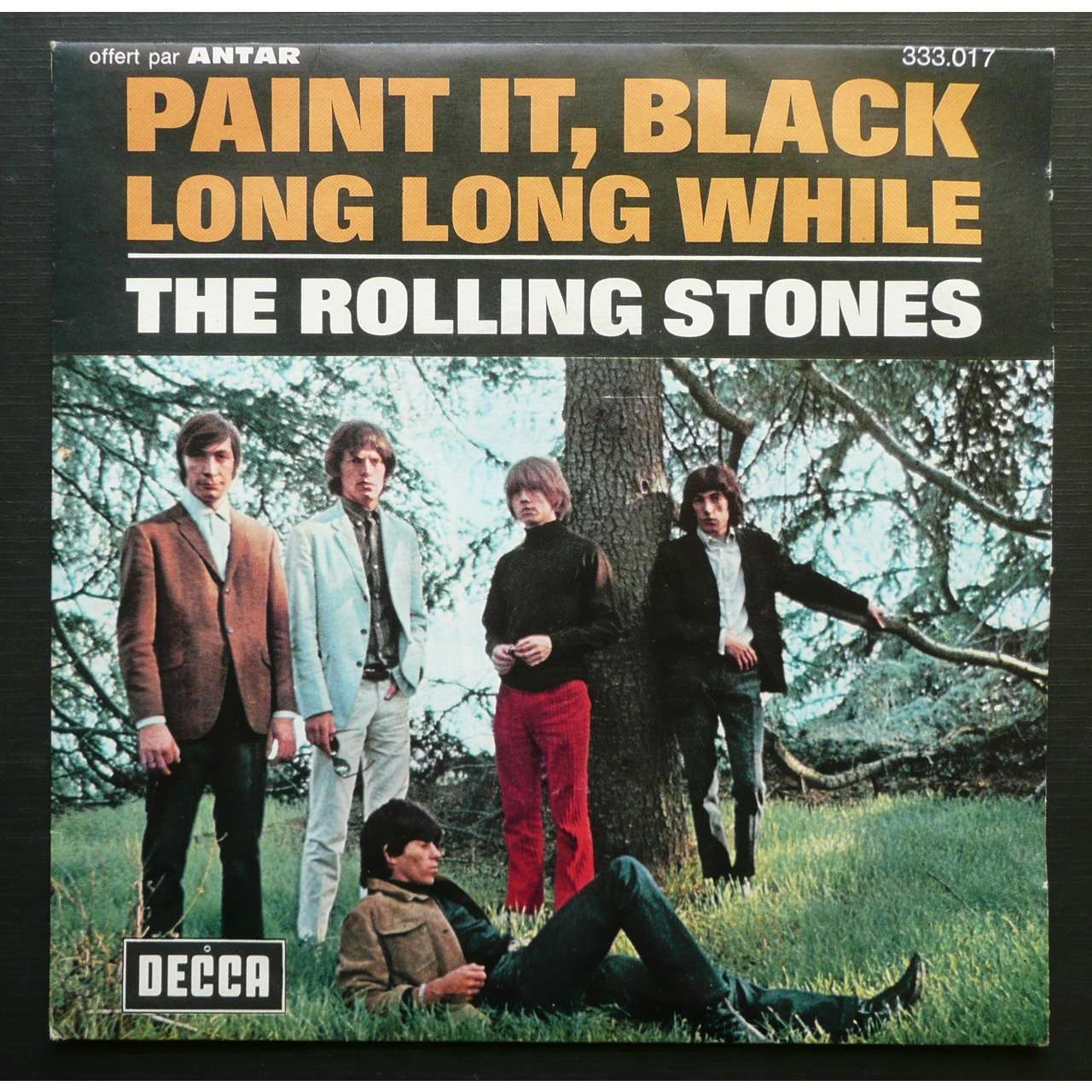 Rolling Stones Paint It Black French Cover