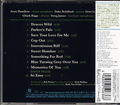 Scott Hamilton Across The Tracks Cd For Sale On Cdandlp Com